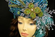 Crowns & headgear / Fanciful crowns, tiny hats & fascinators, great headgear, decorated hairbands