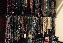 Jewelry Organization on Peg Boards