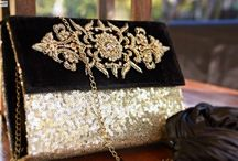 """Grammy's Glam / Exclusive handmade clutches by """"Niha's"""" inspired by Red Carpet Events."""