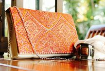 """Classy Madeira / Exclusive handmade clutches by """"Niha's"""" inspired by vibrant colors of Madeira Island.. Perfect to carry in all occasions."""