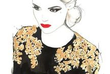 Fashion illustration, clothes / Contemporary and vintage fashion illustration, more about the clothes