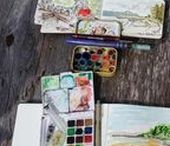 Plein air equipment / Plein air painting easels, umbrellas, wet carrying solutions for oil painting, acrylics, pastels and watercolor
