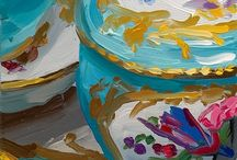 Fast & loose painting / Paintings that seem fast and loose, oils, acrylics with dynamic brushwork, daily paintings by Paula O'Brien and other artists