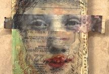 Encaustic figurative / Figurative encaustic painting, painting with wax, beeswax, highly realistic to softly abstract