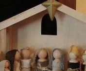 Christmas / Christmas decorations, wreaths, crafts, diy nativity scenes, creches