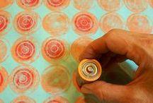 Surface design / Surface design, embellishment, shibori, dishwasher gel bleach fabric
