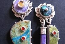 Art Jewelry & DIY / Handmade jewelry, beads, embossed polyform clay, up cycled jewelry, craftsmen art jewelry and assemblage earrings, necklaces, jewelry