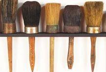 Make a mark / Drawing tools, handmade paintbrushes, mark making art tools