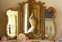 Boudoir/ Vanity accessories / mirrors/  (see also perfume bottles) / by Anna Maria Ligia Desloovere