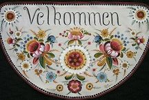 Norway Rosemaling /Design patterns/ knitting/hardanger / by Anna Maria Ligia Desloovere