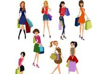 Shopping Grils Vector Pack / Shopping never looked so good! Our 11 royalty free vector files showcase beautiful girls out shopping in high detail. Every vector image is 100% original and hand drawn and fully compatible with all graphic design software programs.