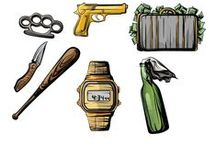 Gang Vector Pack / Ready to try the gangster life? These 11 royalty free vector graphics will equip you with the complete range of the gangster's weapons of choice. Check out these highly detailed vector files, 100% original and hand drawn, ready to use and fully compatible with all graphic design software programs.