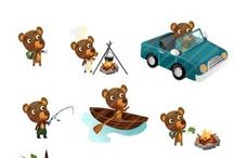 Bear Vector Packs / Who doesn't love a friendly bear? Our vector pack gives you 11 of them, hand drawn and ready to use in your designs. Illustrate your nature and outdoor activities designs with a wide choice of vector files including camping, rowing and tree climbing bears. Each vector image is royalty free and compatible with all graphic design software programs.