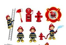 Firefighter Vector Pack / All kids dream to be a firefighter one day. You can be part of their dream with your designs. We have a pack with 11 firefighter vectors. The vectors are royalty free, 100% original and hand drawn.