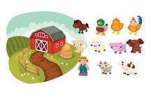 Farm Animals Vector Pack / Bring out your inner country spirit with our farm animals vector pack. Meet our friendly farmer and all his cattle in 11 high quality, ready for use vector files. Each clipart file is 100% original and hand drawn and fully compatible with all design software programs.