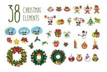 Christmas Pack / It's the Jingle Bells time and we have all the Christmas decorations you will ever need. Grab your Christmas presents, Santa and his reindeer and your mistletoe and start decorating your seasonal greeting cards. Our vector pack is 100% hand drawn and compatible with your graphic design software and it is also royalty free. Get these 11 vector files and start creating your Christmas designs with great ease.