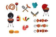 Barbeque Vector Pack / What's cooking this weeekend? We recommend a barbecue! We have steaks and sausages, hamburgers and hotdogs and plenty of ketchup and mustard. All in our high quality, 100% hand drawn graphic vectors.