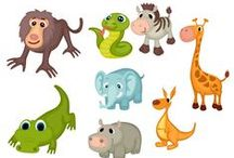 Wild Animals Vector Pack / No time for a safari? Find all the wild animals you wish to see in this vector pack. We brought together giraffes, lions, crocodiles and orangutans in a series of 100% original and hand drawn clipart files. All the clipart files are royalty free, fully scalable and compatible with all graphic design software programs.