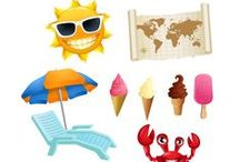 Summer Vector Pack / Ice cream, beach, sun glasses, sun, yes, you guessed. It's summer time. For you and for your designs. We have 11 summer are royalty free vectors 100% original and hand drawn.