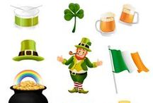 Saint Patrick Vector Pack / 11 good luck vectors for your creative designs. The vectors are ready to be used, especially on St. Patrick's Day. Our vector pack includes 11 royalty free vector graphics, 100% original and hand drawn. The clipart files are ready to use and compatible with all graphic design software programs.