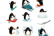 Winter Penguins Vector Pack / Money can't buy happiness, but it can buy you a vector penguin. Have you ever seen a sad person who owns a vector penguin? And now you can have 11 penguins, 100% original and hand drawn.