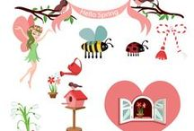 Spring Vector Pack / If you want to give your designs a spring flavour, try our pink vectors with flower, bees, hearts, trees. Our vector pack includes 11 royalty free vector graphics, 100% original and hand drawn. The clipart files are ready to use and compatible with all graphic design software programs.