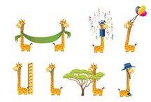 Giraffe Vector Pack / Do you need for you design a wild giraffe, a safari giraffe or a birthday giraffe? No problem, check our Giraffe Vector Pack, for 11 high detailed vector Giraffe. All vectors are 100% original, hand drawn and royalty free.