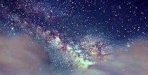Milky Way,Aurora Borealis
