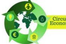 Circular Economy & Economía Circular y Colaborativa / La Economía Circular es una filosofía de organización de sistemas inspirada en los seres vivos, que persigue el cambio de una economía lineal (producir, usar y tirar) hacia un modelo circular, tal y como ocurre en la naturaleza.