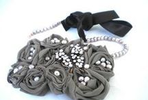 Fabric & Ribbon Jewelry / The softer side of jewelry and beading.