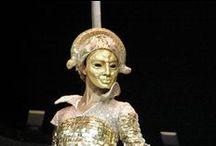 """""""Carmina Burana"""" / Design and Implementation of the Fortuna masks for the opera spectacles Carmina Burana for State Opera Varna, by Vanya Vasileva. vanyart.com/carmina_burana.html"""