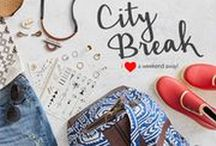 city break edit / ethical fashion for your weekend away - pack sensibly for your weekend city break. Stylish and sustainable ideas on how to pack lightly for your city break holiday, alongside cruelty-free travel size toiletries.   From small accessories like temporary tattoos and classic pieces of ethical jewelry, to practical items like rain coast and ethical wellington boots. our holdalls are all sweatshop free and the leather used are either recycled or byproducts.