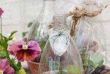Recyclen: Plastic kannen, flessen en bekertjes / by Nina