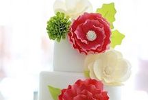 Cakes - Modern Wedding / Cakes with a modern edge - bright colours & non-traditional shapes.