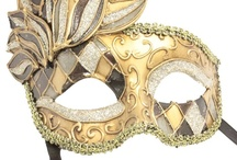 Gold Mardi Gras masks for Masquerade / Gold Mardi Gras masks for Masquerade. Beautiful lace and patterned masks and bendable metal laser cut masks. Perfect for Masquerade Balls, Mardi Gras parties, New Years Eve and Halloween.