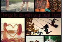 BFF BucketList Things WE Will Do
