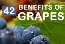 The Goodness of Grapes / Who says tasty can't be healthy? Learn more about the benefits of grapes from these fun fact pins and feel free to repin your favorites! #grape #health #funfact