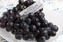 Beautiful Black Grapes / Meet our purple skinned and juicy MIDNIGHT BEAUTY seedless black grapes, SABLE SEEDLESS black grapes, black ADORA SEEDLESS grapes, and Autumn Royal black grapes. What's your favorite way to enjoy these plump delights?