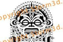 High quality Polynesian shoulder tattoo designs / These shoulder designs are all handdrawn by tribal tattoo designer Mark Storm at www.storm3d.com The set shows a range of tribal tattoo flash in different Polynesian style patterns. The high quality designs are available on his website