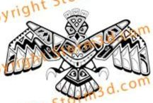 Tribal tattoo designs Haida native style / All high quality Haida tattoo designs, shown in this board are available on my website www.storm3d.com .