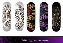 skateboard designs by tribal tattoo designer Mark Storm / These skateboard designs are handdrawn by tribal tattoo designer Mark Storm. You can order it in my shop: Http://bit.ly/tattoocases