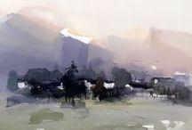 Zhao Zhiqiang / Watercolour-Acuarela