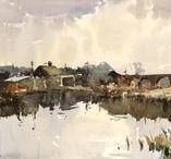 Edward Wesson / Watercolour-Acuarela