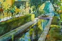 Geoffrey Winne / Watercolour-Acuarela