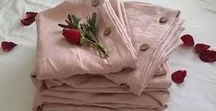 Organic Dusty Rose Pink Bedding / FOR YOURSELF AND HOME Our new Dusty Rose Pink Linen Collection consists of Pure Irish Linen bedding, duvet covers, sheets, pillowcases, bed skirts and heavy pin-tucked bed throws, light summer throws and gorgeous ruffled lace towels Available on our Etsy Online Store