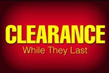 """SALE: While Supplies Last ! / CLEARANCE ITEMS:  Sale, Closeout & Bargain Prices! Priced to MOVE...Excellent quality products at a great price on discontinued, overrun or """"need to move out of our warehouse"""" items."""