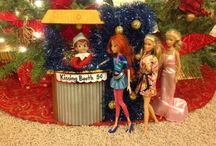 Our Elf on the shelf. 2013 / Mischief with Buddy the Elf. 2012 and 2013