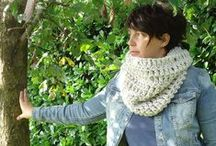 cowl / maxi scarf , sciarpe hand made knitting and crochet