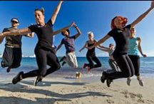 Fitness fun in Ibiza / Fitness breaks in Ibiza with beach circuits, Yoga, Kayaking, running, Stand Up Paddle Boarding, Pilates