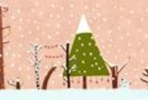 clipart & coloring christmas winter